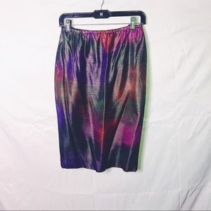 Vintage rainbow iridescent skirt